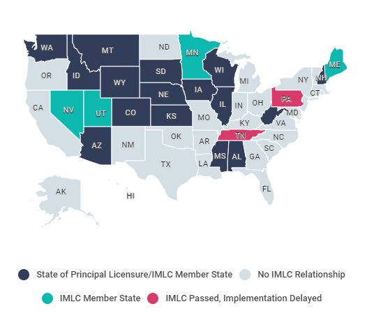 Compact State Map.Interstate Medical Licensure Compact Imlc Qualification Quiz